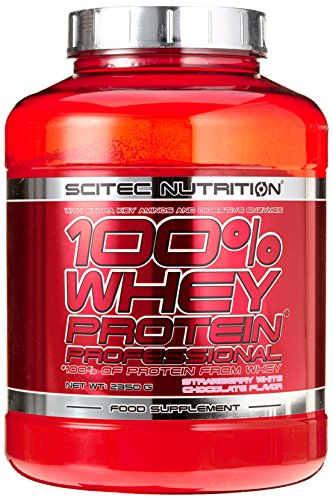 Scitec Nutrition Whey Protein Professional Erdbeer-Weiße Schokolade, 1er Pack (1 x 2350 g) im Whey Protein Fakten-Test 2018