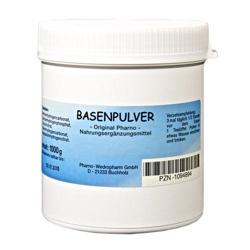 Basenpulver - Original Pharno - 1.000 g Pulver im Basenpulver Fakten-Test 2019