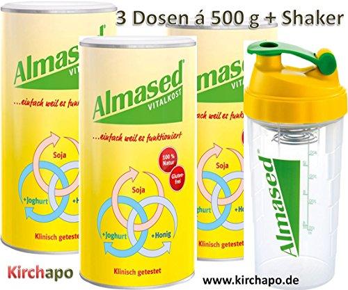3 Dosen à 500 g + Shaker