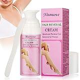 Enthaarungscreme, Haarentfernungscreme, Hair Removal Cream, Haarentfernung Enthaarungsmittel Schmerzlose Haarentfernung Creme auf Gesicht, Bikini, Unterarm, Lässt die Haut sanft,100ml