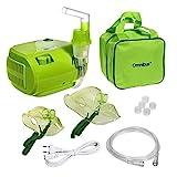 Omnibus BR-CN116B Inhaliergerät Inhalator Aerosol Therapie Vernebler Inhalation Kompressor (Grün - mit Grüne Tasche)