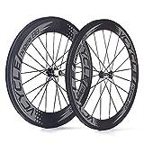 VCYCLE Nopea 700C Rennrad Carbon Laufradsatz Drahtreifen Vorne 60mm Hinten 88mm Shimano oder Sram 8/9/10/11 Speed