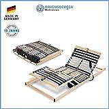 Ravensberger Matratzen PURAMED  Lattenrost | 7-Zonen-Birke-Lattenrahmen | 28 Leisten| Elektrisch| KLAPPRAHMEN - Made IN Germany | 100 x 200 cm