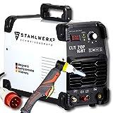 STAHLWERK CUT 70 P IGBT Plasmaschneider mit 70 Ampere, Pilot-Zündung, bis 25 mm Schneidleistung, für Flugrost geeignet, weiß, 5 Jahre Garantie