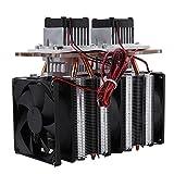 Halbleiterkühlsystem, Semiconductor Refrigeration Peltie Cooler Thermoelektrischer Peltier, 144 W Dual-Core-Peltier-Luftentfeuchtungsgerät für die Halbleiterkühlung, USB-Anschlussmodul für die Halble
