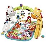 Fisher-Price CCB70 3-in-1 Erlebnisdecke Krabbeldecke mit Lichtern und Musik inkl. Spielzeugen Babyerstausstattung, ab 0 Monaten