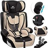 KIDIZ Autokindersitz Kindersitz Kinderautositz | Autositz Sitzschale | 9 kg - 36 kg 1-12 Jahre | Gruppe 1/2 / 3 | universal | zugelassen nach ECE R44/04 | 6 verschiedenen Farben | Beige