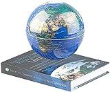 infactory Weltkugel: Freischwebende Deko-Leuchte mit beleuchtetem Globus und Magnet-Basis (Schwebende Kugel)