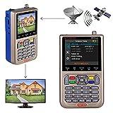 GT MEDIA V8 Satelliten Finder Meter Neu Satellitenfinder DVB-S / S2 / S2X Signalempfänger Hardware Sat-Detektor, HD 1080P Frei für FTA 3,5 'LCD Eingebauter 3000mAh-Akku zum Anpassen von Sat Dish
