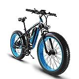 Extrbici XF800 E-Bike Mountainbike,1000W, 48V 13Ah 624Wh Akku,Elektrofahrrad 26 Zoll,Shimano 7 Gang-Schaltung, Hydraulische Bremsen, Akku mit USB-Ladeanschluss