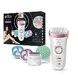 Braun Silk-épil 9 SkinSpa SensoSmart Epilierer 9/990, für Damen mit Andruckkontrolle, Wet&Dry Epilergerät mit 13 Extras, rosegold