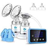 Elektrische Milchpumpe, Bellababy Doppelsauger Elektrische Stillpumpe Brust Massage Brustpumpe mit Full Touchscreen LED Display (mit 10 Stück Muttermilch Aufbewahrungsbeutel)