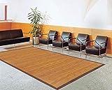 Bambusteppich Sense 120x175cm, 17mm Stege, breite Bordüre, massives Bambus | Bordürenteppich | Teppich | Bambusmatte | Wohnzimmer | Küche DE-Commerce | nachhaltig und ökologisch.
