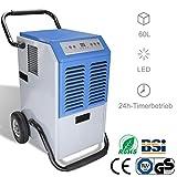 WIS Luftentfeuchter 60L/Tag bis zu 300 m³ (~150 m²) automatische Entfeuchtung│5.5L Großer Wassertank│24h-Timerbetrieb│Luftreinigungsfunktion│Abtaufunktion