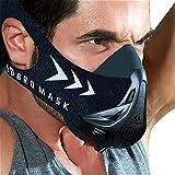 FDBRO Trainingsmaske Workout Maske- - High-Altitude-Endurance-Maske erhöht die Kraft, Laufwiderstand Atemmaske mit Tragetasche