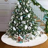 Royaliya Baumdecke Weihnachtsbaum Rock Christbaumdecke Rund Weiß Weihnachtsbaumdecke Christbaumständer Teppich Decke Weihnachtsbaum Deko
