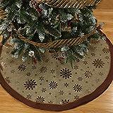 Siennaa Weihnachtsbaum Decke, Rentier Gedruckt Weihnachtsbaum Rock Dekoration Schneeflocken Weihnachtsbaumdecke Elch Weihnachtsbaum Röcke Weihnachtsschmuck Weihnachtsbaum Deko Weihnachtsdeko