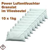 10 x 1 kg Luftentfeuchter Granulat im Vliesbeutel Keller-Trockner Anti Feuchtigkeit