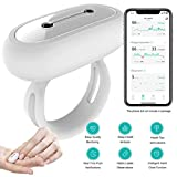 Wireless Sleep Monitor SpO2 Pulse Oximeter with Vibration Alarm for Low SpO2 Level and Obstructive Sleep Apnea,Tracking Blood Oxygen Saturation Level and Heart Rate Monitor