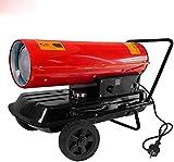 WEIERR Ölheizgebläse 30KW Ölheizer Ölheizung mit Digitalanzeige und integriertem Thermostat Beweglich Ölbeheizung Heizer, Kraftstofftank 33L, Dieselheizer Heizgeblaese mit Überhitzungsschutz