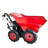 BRAST Benzin Muldenkipper Mini-Dumper Motor-Schubkarre Dumper Radlader 4,8kw/6,5PS Allradantrieb 300 kg Traglast