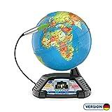 Vtech 80-605404 Interaktiver Videoglobus, Lernglobus, Normalverpackung, Mehrfarbig
