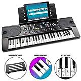 RockJam 49 Key Tastatur-Klavier mit Noten und Notenständern, Klavier Hinweis-Aufkleber, Netzteil und einfach Piano Anwendung
