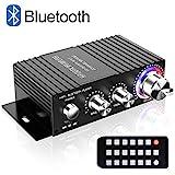 Mini HiFi Verstärker Bluetooth, TTMOW 2 x 50W Stereo Audio Amplifier Bass Endstufe mit Lossless USB-Player für Home und Auto 4 ohm und 8 ohm (DC 12V-24V / 5A-10A Universaladapter, Nicht Enthalten)