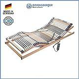RAVENSBERGER MEDIMED 44-Leisten 7-Zonen-BUCHE-Lattenrahmen   Elektrisch   Made IN Germany - 10 Jahre GARANTIE   Blauer Engel - Zertifiziert   90 x 200 cm   Kabel-Fernbedienung