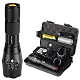Lumitact G700 LED Taschenlampe, Extrem Hell 3000 Lumen CREE Wiederaufladbare Taktische Taschenlampen, Aufladbar Fackel für Camping Wandern und Notfälle (Inklusive 1 x 18650 Batteries)