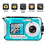 Unterwasserkamera 1080P FHD 24 MP wasserdichte Camcorder 2.7 Zoll TFT-LCD Dual Screen Videokamera Digitalkamera Selfie