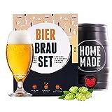 Bierbrauset zum selber brauen | Pils im 5 liter Fass | In 7 Tagen fertig | Perfektes Geschenk für Männer, Freund oder Vater | von Braufässchen
