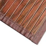 casa pura Bambusteppich Magenta (Braun)   für Bad und Wohnzimmer   natürlich wohnen Bambus   Bambusmatte in vielen Größen (150x200 cm)