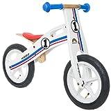 Bikestar Laufrad aus Holz, für Kinder im Alter von 3 Jahren, 30,5 cm, Weiß/Blau/Rot