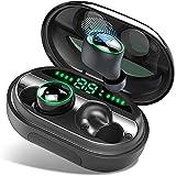 【Neuestes Modell】 Bluetooth Kopfhörer, V5.0 Wireless Earbuds mit 150H Spielzeit, In Ear Bluetooth 5.0 Kopfhörer Kabellos und IPX8 Wasserdicht, Touch-Control, Deep Bass HD-Stereo, Battery LED Display