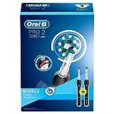 Oral-B PRO 2 2900 Elektrische Zahnbürste für extra Zahnfleischschutz dank visueller Andruckkontrolle, mit 2. Handstück, schwarz