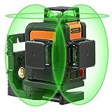 Professionel Kreuzlinienlaser Selbstnivellierend TACKLIFE SC-L08 Laser 3x360 ° Arbeitsbereich: 40m Nivelliergenauigkeit ±3mm/10m Schutztasche (mit Akku Ladegerät, Magnetische Schwenkbare Haltung)