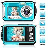 Unterwasserkamera 2.7K wasserdichte Kamera 48 MP Digitalkamera Unterwasserkamera Dual-Screen-LCD-Farbdisplays wasserdichte Selfie Unterwasserkamera