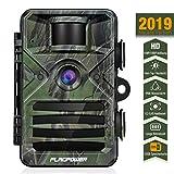 Wildkamera mit Bewegungsmelder Nachtsicht 16MP und Speicherkarte, FLAGPOWER Wildkamera Full HD Jagdkamera 44 IR LEDs Infrarot 20m Überwachungskamera IP66 Wasserdicht 0,2s Auslösezeit 2.4' LCD MEHRWEG