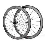 LANDMYTH Fahrradräder Laufradsatz Drahtreifen Matt 50mm Carbon 700C Radsport Rennrad Drahtreife Bike Wheels Ultra Light