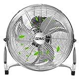 OZAVO Standventilator, Windmaschine 36/48/54 cm mit 3 Laufgeschwindigkeiten, Bodenventilator Power, Tischventilator Metall, Luftkühler, verstellbare Neigungswinkel, 45/80/100 W (48cm)