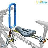 UrRider Kinderfahrradsitz, Fahrradkindersitz für Kleinkinder, Faltbarer und ultraleichter Baby-Kinderfahrradträger-Handlauf für Mountainbikes, Hybridbikes und Fitnessbikes
