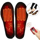 Beheizbare Einlegesohlen Elektrisch Fußwärmer wiederaufladbar mit 3 Warmstufen und Funkfernbedienung fur Herren Damen (L)