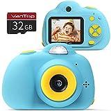 VANTOP K5 Kinderkamera, 1080P HD Mini Kinderkamera, 8MP Selfie Digitalkamera, 2,0 Zoll Farbdisplay Fotoapparat mit 32 GB Speicherkarte für Kinder , Geschenk für 4-12 Jahre alt (Blau)