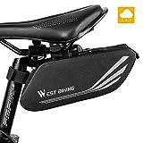 Fahrrad Satteltasche, Wasserdicht Fahrrad Aufbewahrungstasche mit reflektierenden Streifen, Großer Kapazität Mountainbike Rennrad Hecktasche für Mini Fahrradpumpe Reparaturwerkzeuge, Fahrradzubehör