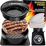 Mountain Grillers Burgerpresse Patty Maker | Handliche antihafte Form mit 40 STK backpapier für perfekte Burger, Patties oder Frikadellen (Burgerpresse Hamburger Maker)