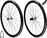 Redondo 28 Zoll Laufrad Set Rennrad V-Profil Felge 8-11-fach Schwarz Silber
