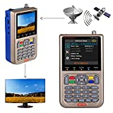 GT MEDIA V8 Satelliten Finder Meter Sat Finder Satellitenerkennung DVB-S / S2 / S2X Signalempfänger Decoder HD 1080P FTA 3,5 'LCD Eingebauter 3000mAh Zur präzisen Einstellung der Satellitenschüssel