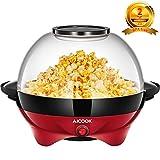 Aicook Popcornmaschine, Popcorn Maker mit Abnehmbares Heizfläche Antihaftbeschichtet, Antihaftbeschichtung, 5 Liter, Bietet Große Deckel für Servierschüssel, Bequeme Lagerung