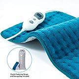 Hosome Heizkissen 30s Schnellheizung mit 2H Abschaltautomatik, 6 Stufen Temperaturstufen 30x60 cm Wärmekissen Elektrisch für Rücken Nacken Schulter Füße